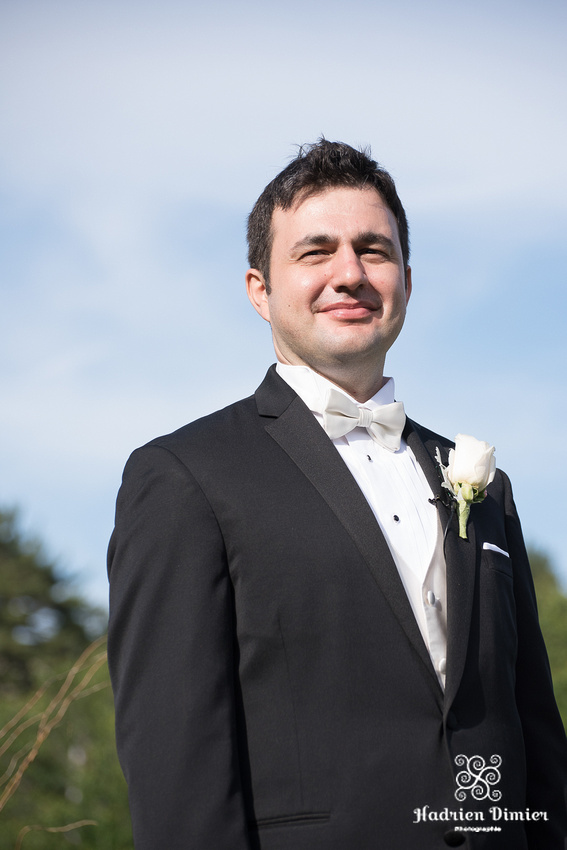 outdoor summer wedding ceremony at Tupper Manor in Beverly MA
