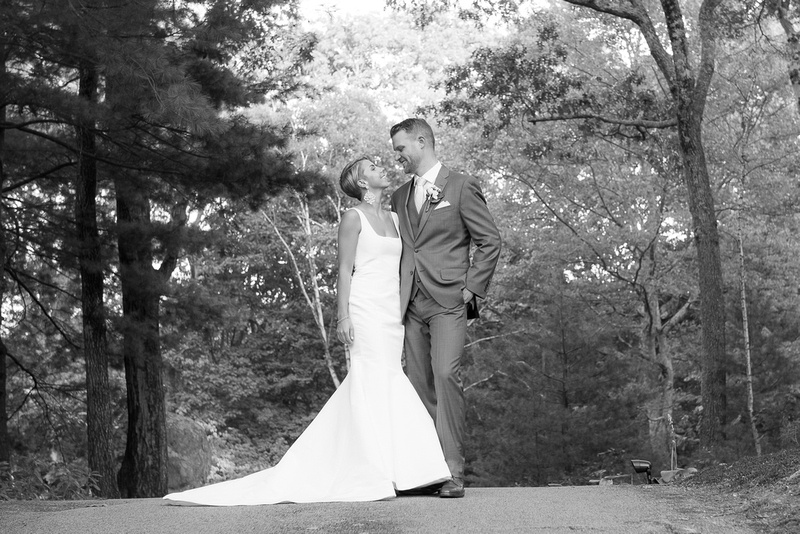 Summer tent wedding at private residence in Boston