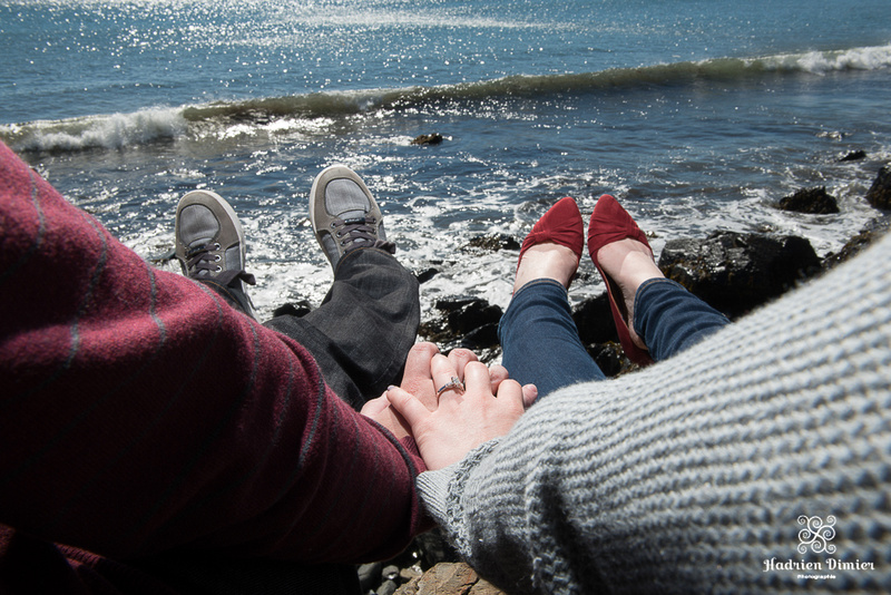 Fall Engagement by the water in York Beach ME by Boston Wedding Photographer Hadrien Dimier