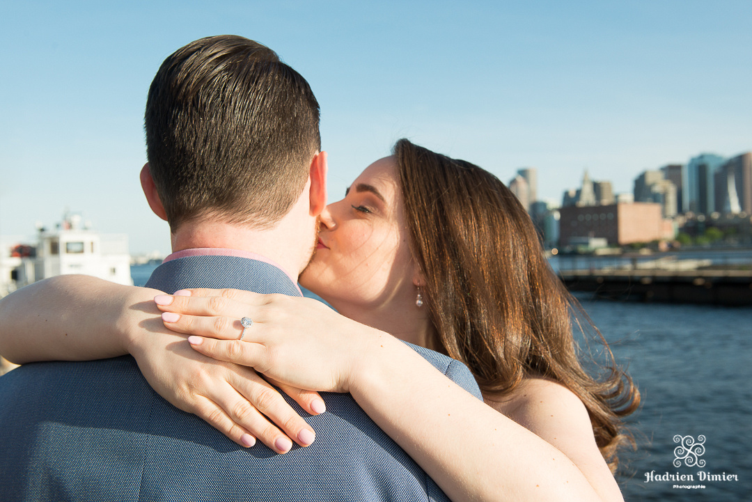 Classy urban engagement session at the Navy Yard in charming Charlestown MA