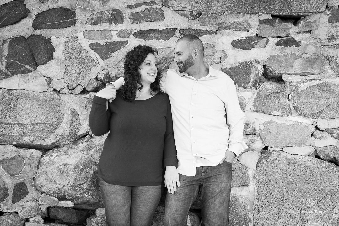 A warm and sunny Fall engagement session at Lynch Park's Rose garden by the ocean in Beverly MA