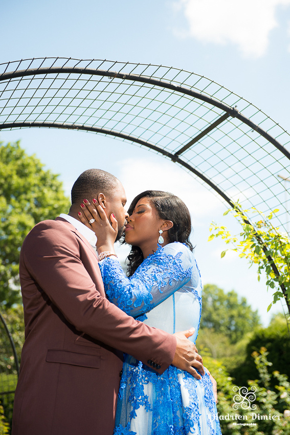 Boston rose garden engagement in the Back Bay Fens at charming James Kelleher Park