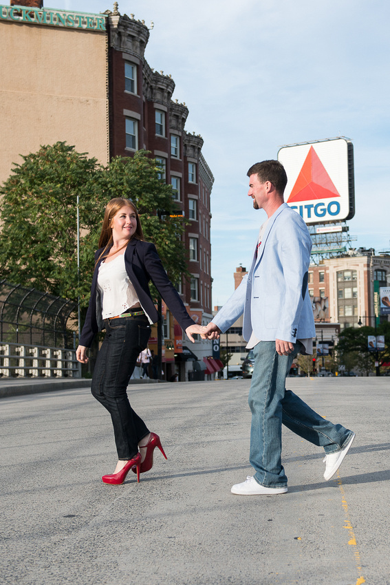 Boston MA engagement session at Fenway Park