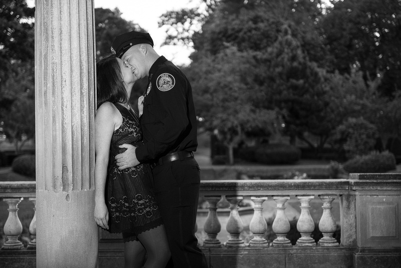 Beverly MA Engagement Session at Lynch Park's Rose Garden