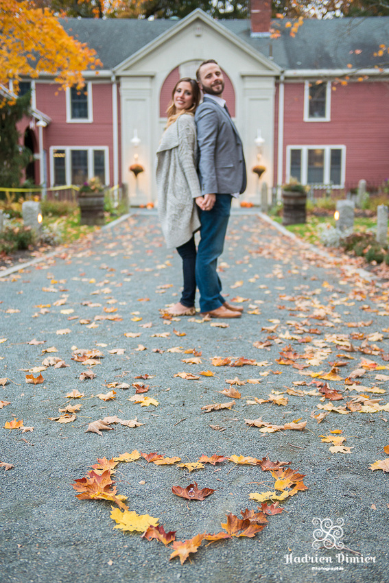 North Shore MA colorful and playful Fall engagement at Endicott Park in Danvers