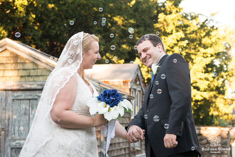 Fall outdoor garden wedding at Glen Magna Farms on Boston's North shore in Danvers MA